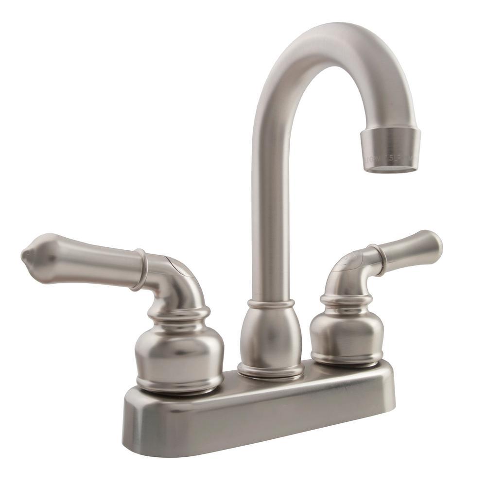 2-Handle Classical RV Bar Faucet in Brushed Satin Nickel