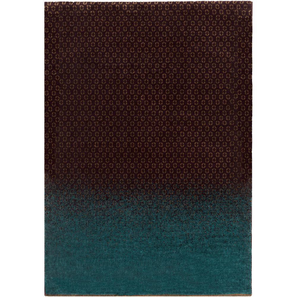 DipGeo Dark Brown 8 ft. x 11 ft. Indoor Area Rug