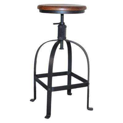 Alistair 24 in. to 30 in. Chestnut Adjustable Stool