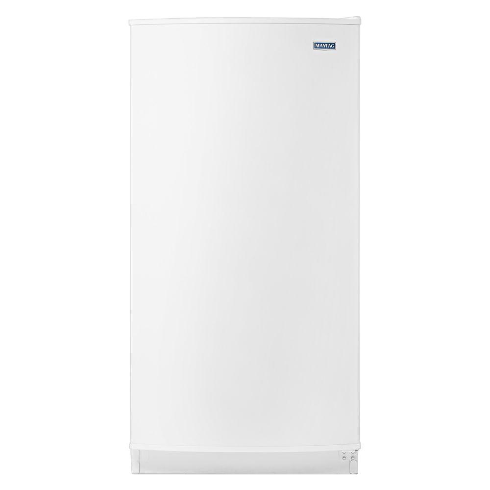 maytag 15 7 cu ft frost free upright freezer in white mzf34x16dw rh homedepot com Kenmore Model Numbers Kenmore Refrigerator Manual