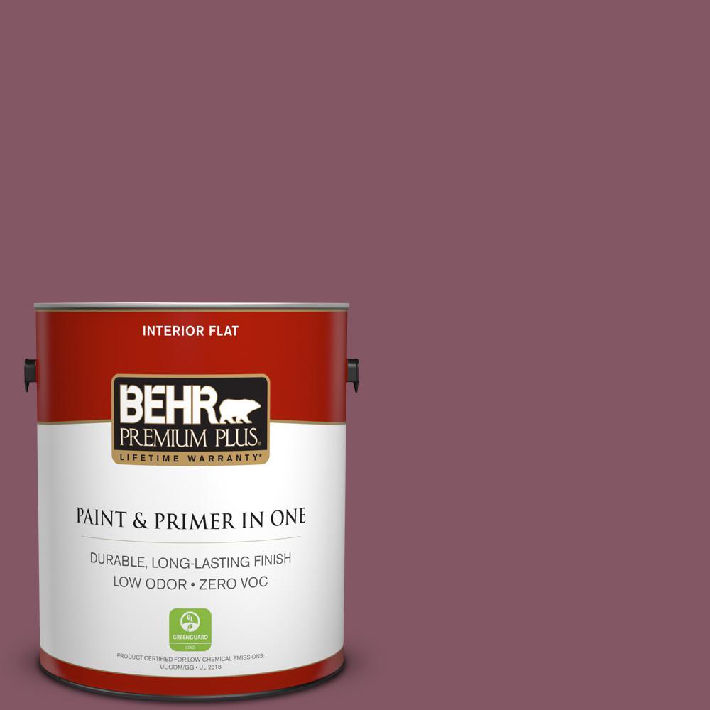 BEHR Premium Plus 1-gal. #100D-6 Rose Garland Zero VOC Flat Interior Paint