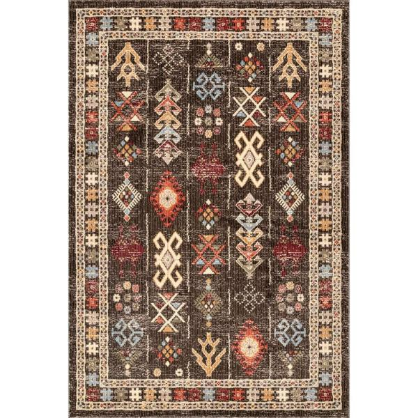 Nuloom Wilma Transitional Tribal Brown