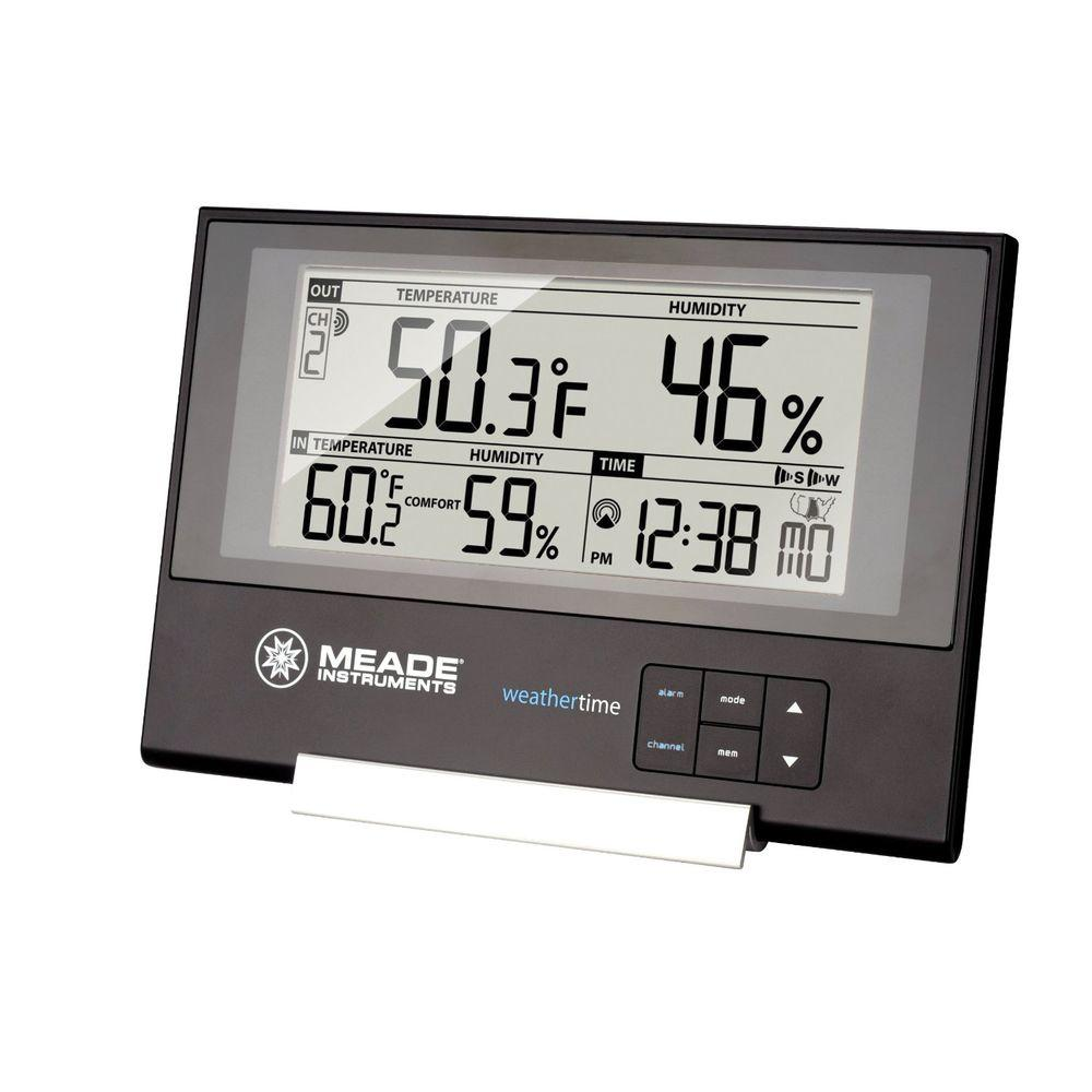 Meade Slim Line Personal Weather Station with Atomic Clock and 145 ft. Sensor Meade Slim Line Personal Weather Station with Atomic Clock and 145 ft. Sensor
