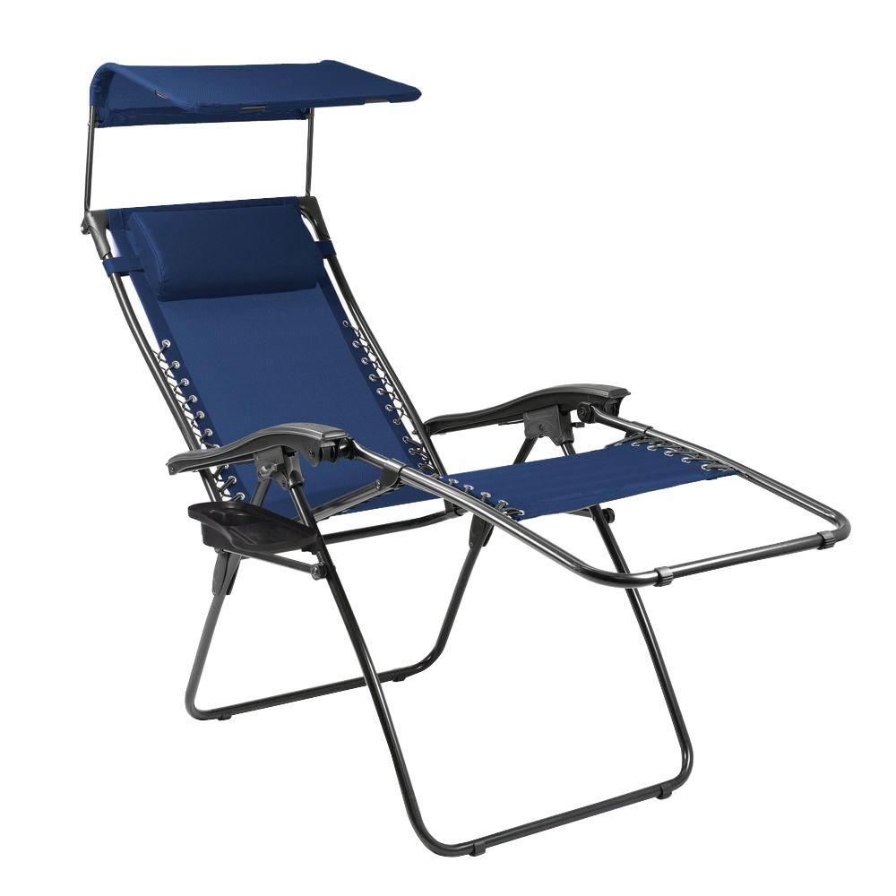 Navy And Slate Serenity Reclining Patio Lounge Chair