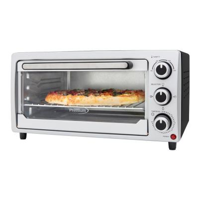 1440 W 6-Slice Silver Toaster Oven with Built-In Timer