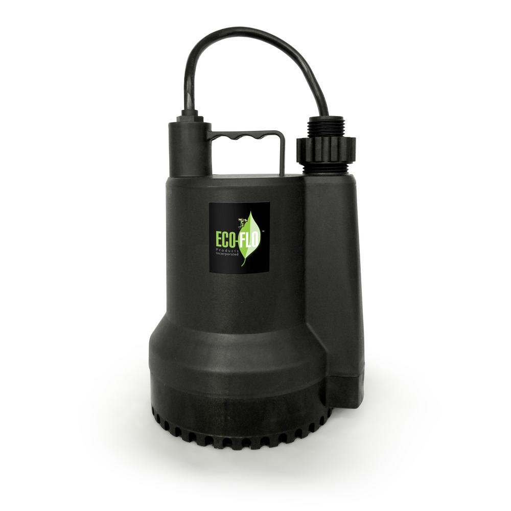ECO FLO 1/4 HP Submersible Utility Pump