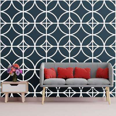 3/8 in. x 23-3/4 in. x 23-3/4 in. Large Crosby White Architectural Grade PVC Decorative Wall Panels