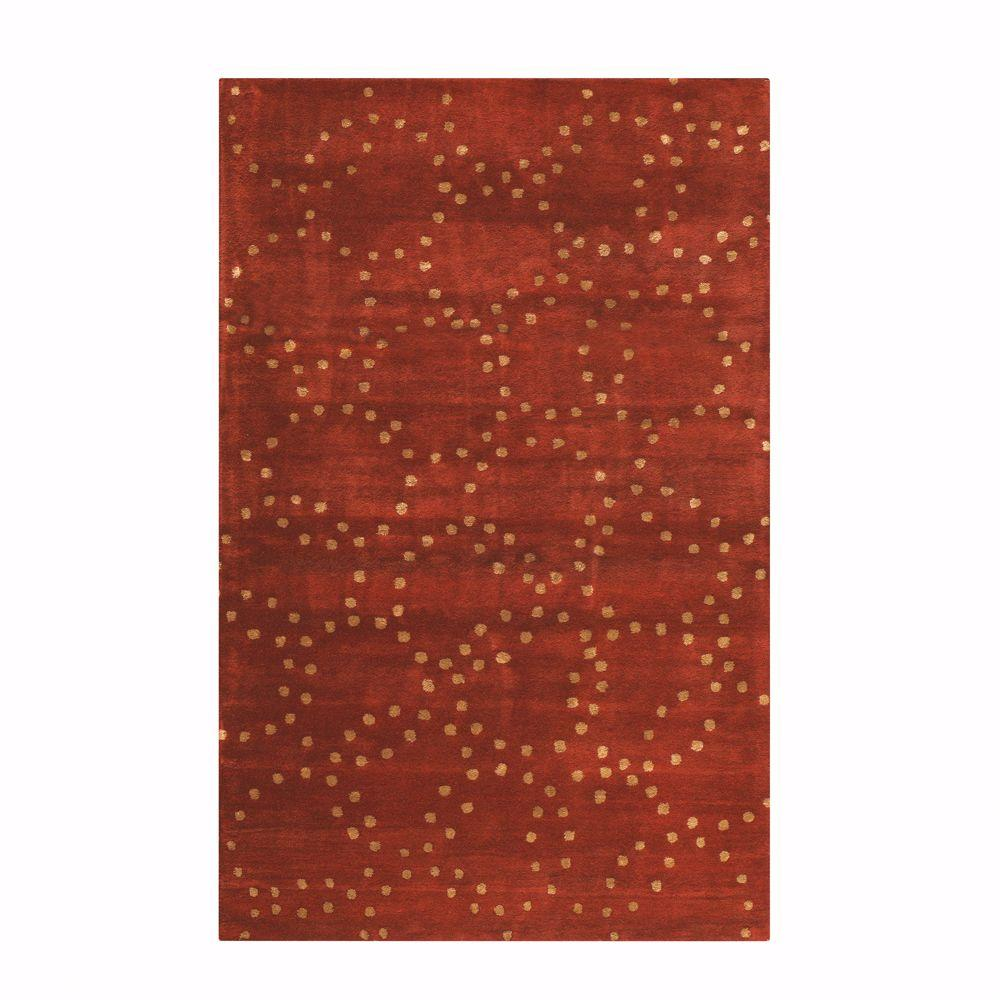 Home Decorators Collection Halo Rust 9 ft. 6 in. x 13 ft. 9 in. Area Rug