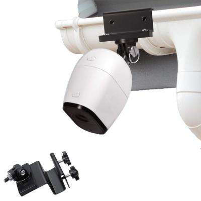 Weatherproof Gutter Mount Compatible with Arlo Pro, Arlo Pro 2, and Arlo HD, Black