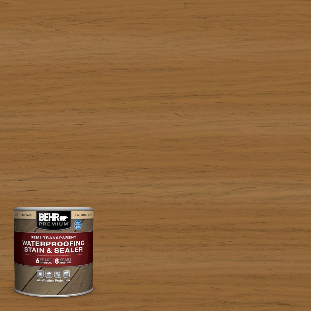 8 oz. #ST-146 Cedar Semi-Transparent Waterproofing Exterior Wood Stain and Sealer Sample