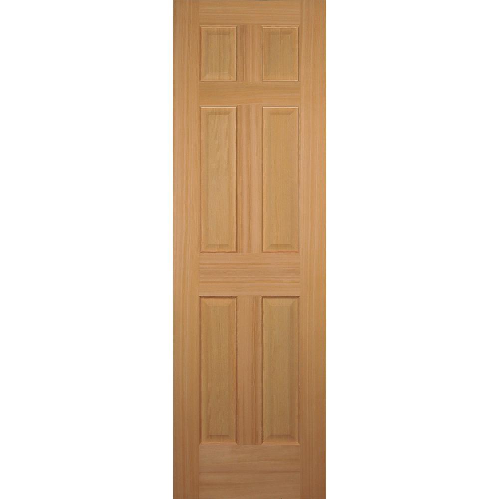 Builder 39 s choice 24 in x 80 in hemlock 6 panel interior for 6 panel doors