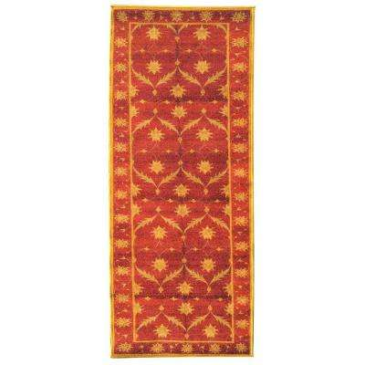 Sweet Home Collection Trellis Design Brown 2 ft. x 6 ft. Indoor Runner Rug