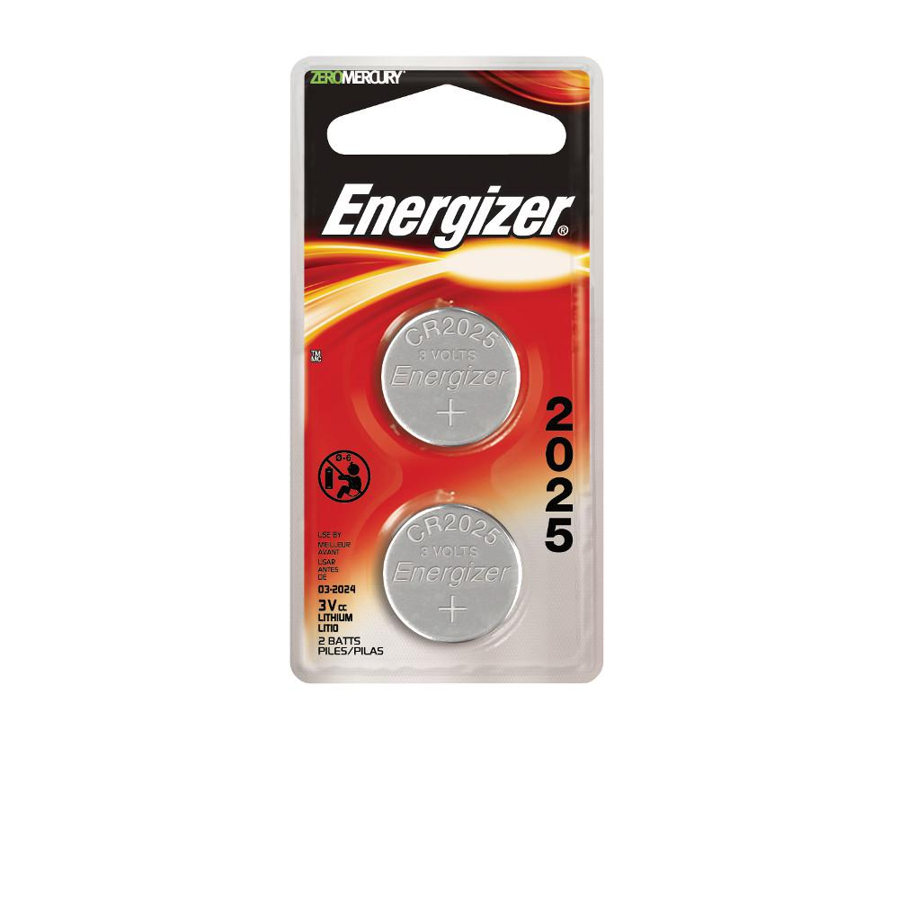 Energizer 2025 3-Volt Electronic Watch Battery (2-Pack)