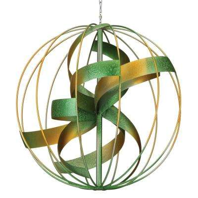Hanging Wind Spinner Copper Patina
