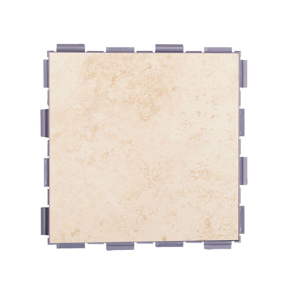 Beige 6 in. x 6 in. Porcelain Floor Tile (3 sq.