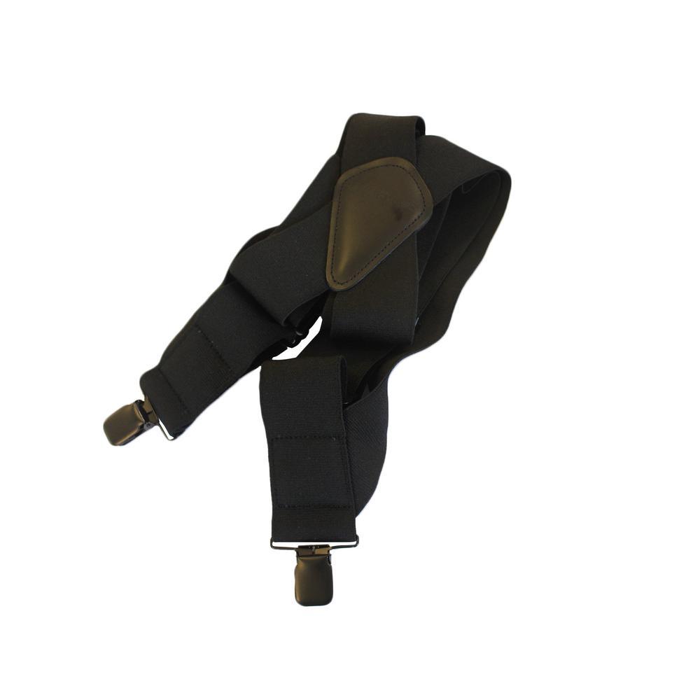 Mens Heavy Duty Elastic Black Full Swing Rugged Suspender