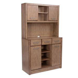 Big Sir Brown Oak Buffet with Hutch