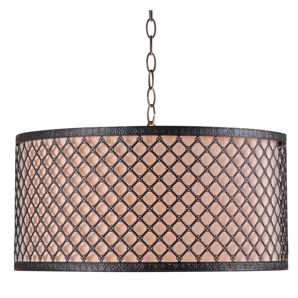 Kenroy Home Hawthorn 3-Light Bronze Pendant
