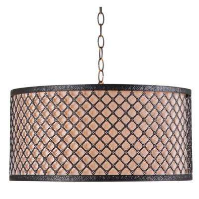 Hawthorn 3-Light Bronze Pendant