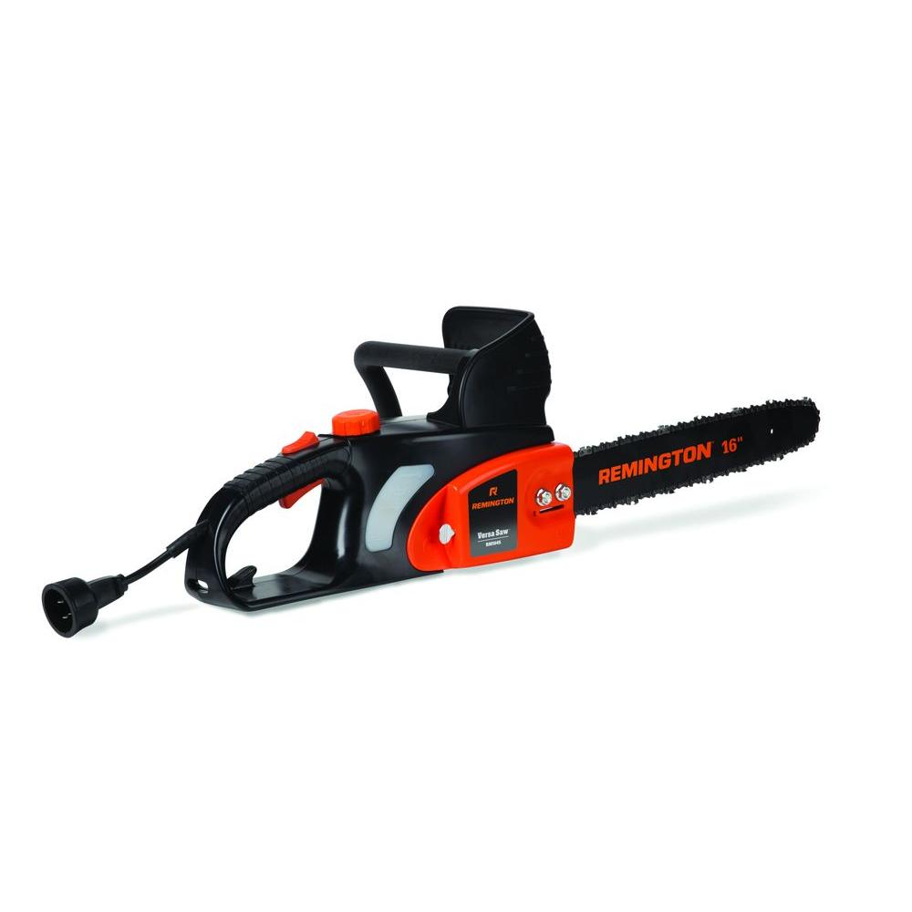 Remington 16 in 12 amp electric chainsaw 16in versa saw the home 12 amp electric chainsaw greentooth