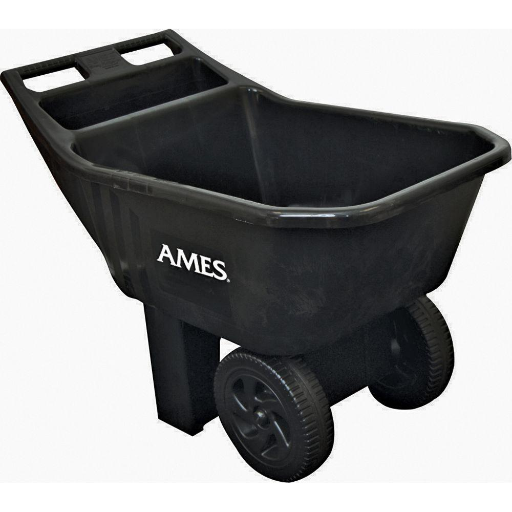 Ames 3 cu. ft. Easy Roller Jr. Poly Yard Cart-DISCONTINUED