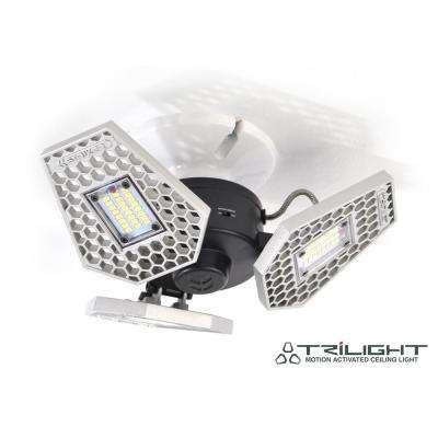 TriLight 3-Light Motion Activated Aluminum LED Ceiling Light