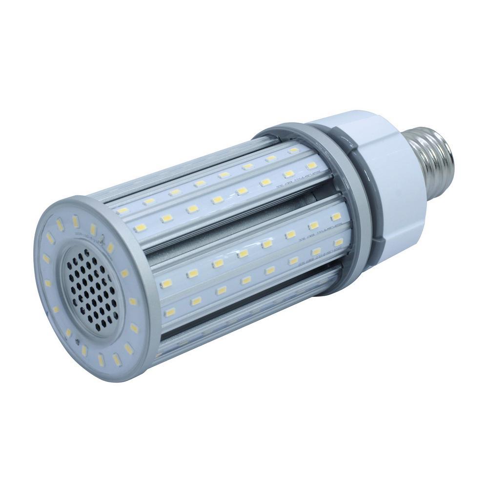 Halco Lighting Technologies 150-Watt Equivalent 36-Watt Corn Cob ED28 HID LED Post Top Bypass Utility Light Bulb Mog 120-277V Daylight 5000K 84007