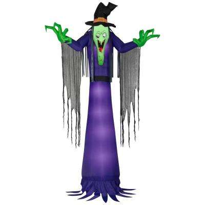 12 ft. Pre-Lit Inflatable Scary Witch Airblown