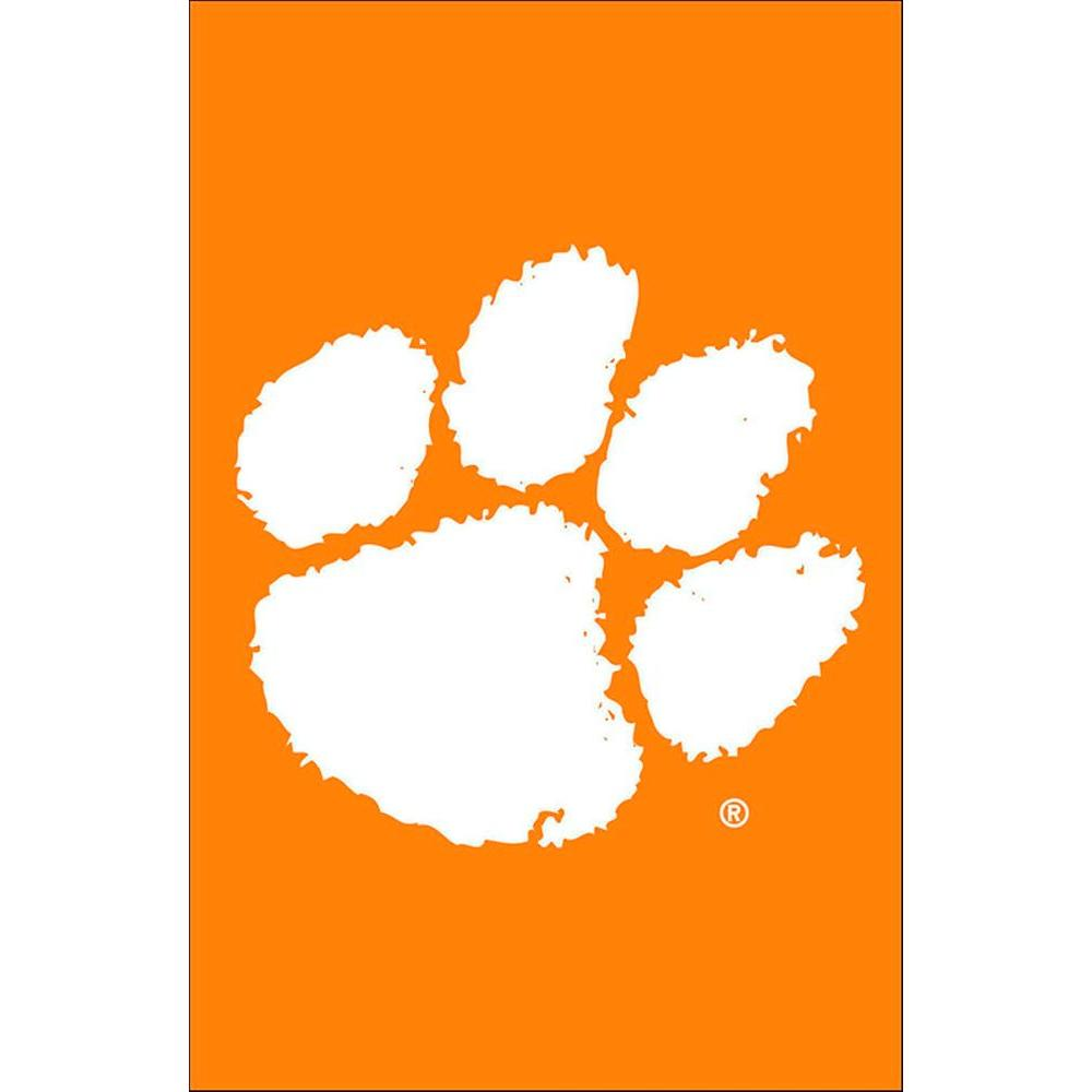 Evergreen Enterprises NCAA 12-1/2 in. x 18 in. Clemson 2-Sided Garden Flag