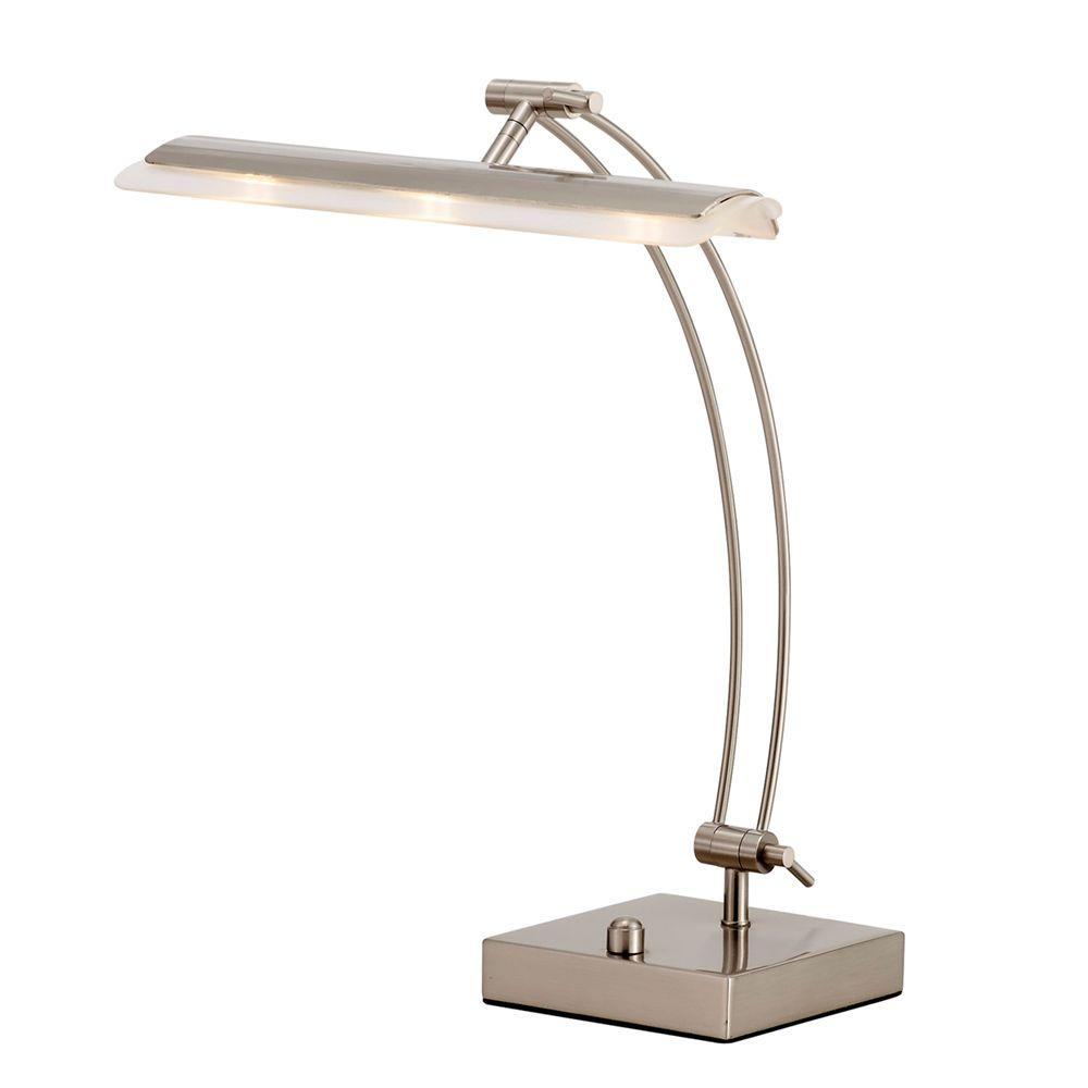 Esquire 19 in. H Satin Steel LED Desk Lamp
