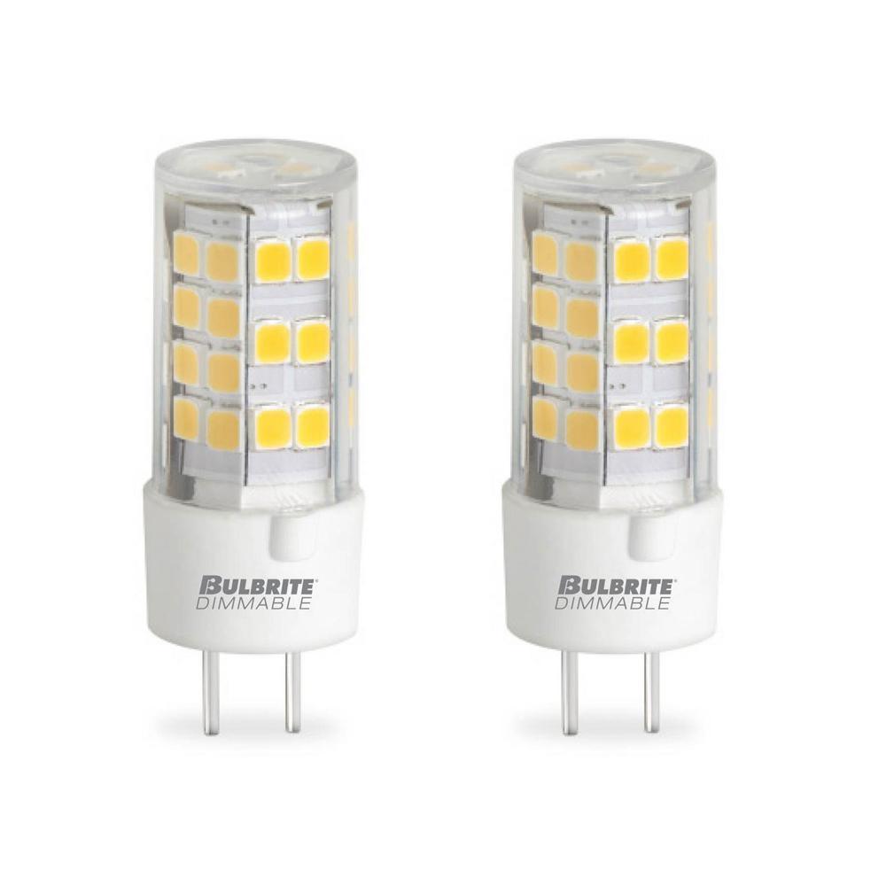Bulbrite 60-Watt Equivalent T4 Non-Dimmable Bi-Pin (GY6.35) LED Light Bulb Soft White Light (2-Pack)