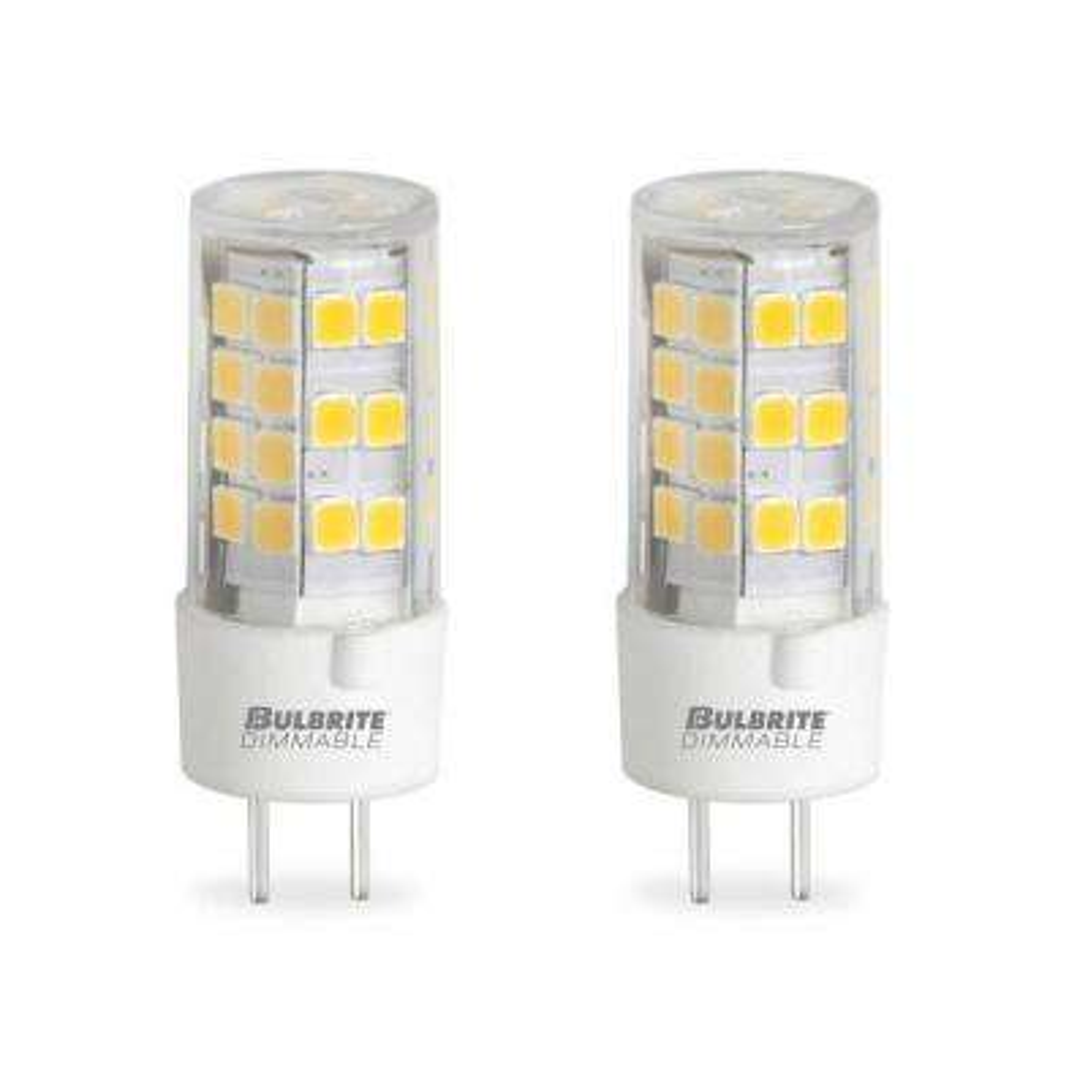 60-Watt Equivalent T4 Non-Dimmable Bi-Pin (GY6.35) LED Light Bulb Soft White Light (2-Pack)