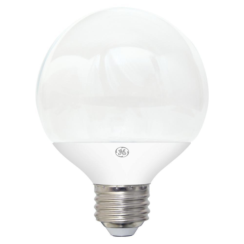 60W Equivalent Soft White (2700K) High Definition G25 Globe White Dimmable LED Light Bulb (2-Pack)