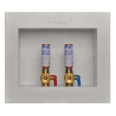 1/2 in. Washing Machine Outlet Box with Water Hammer Arrestors
