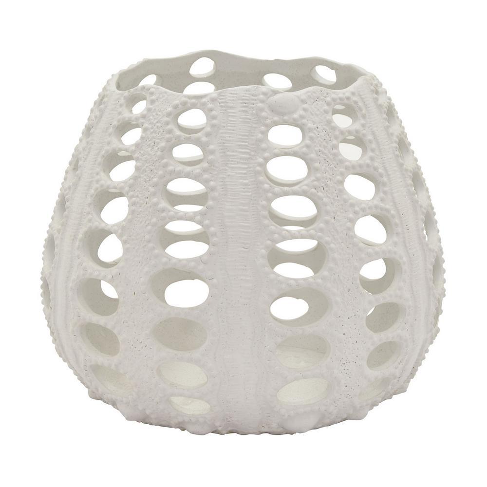 9.25 in. White Ceramic Vase