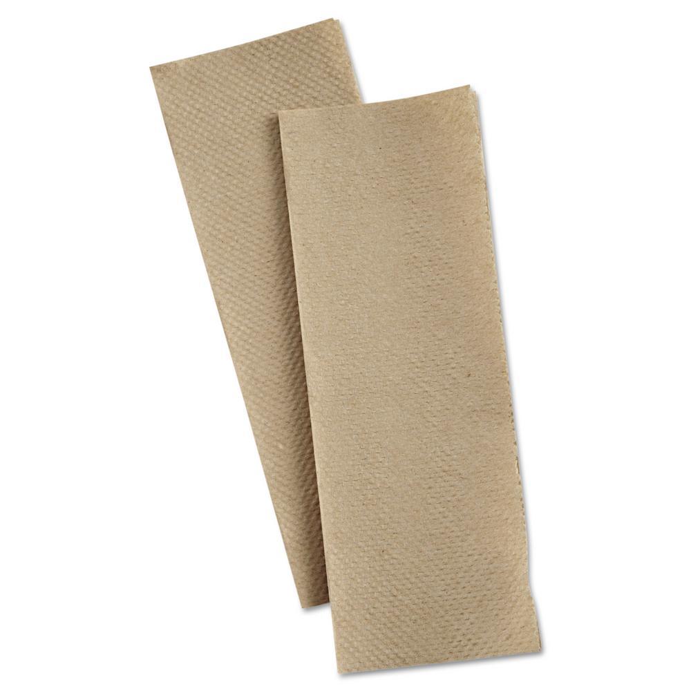 1-1/4 in. x 9-1/2 in. Natural Multi-Fold Paper Towels (250/Pack)
