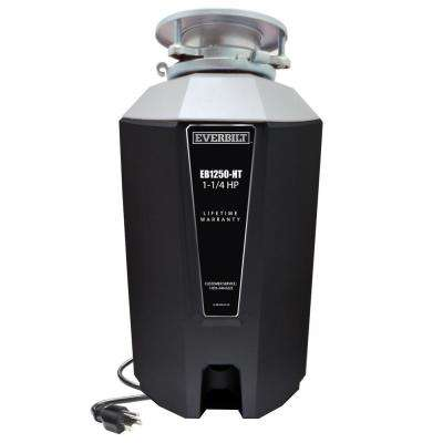 1.25 HP Continuous Feed Garbage Disposal with Attached Power Cord