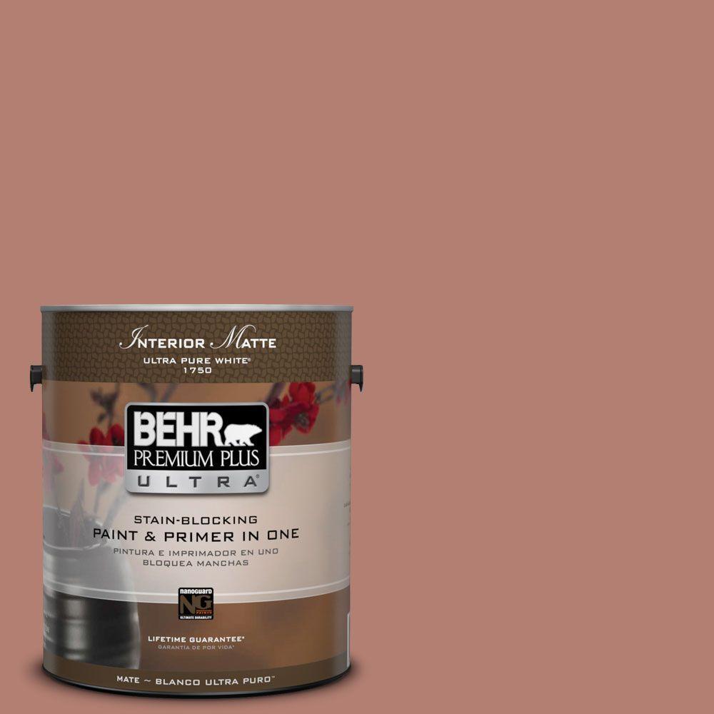 BEHR Premium Plus Ultra 1 gal. #ICC-102 Copper Pot Flat/Matte Interior Paint