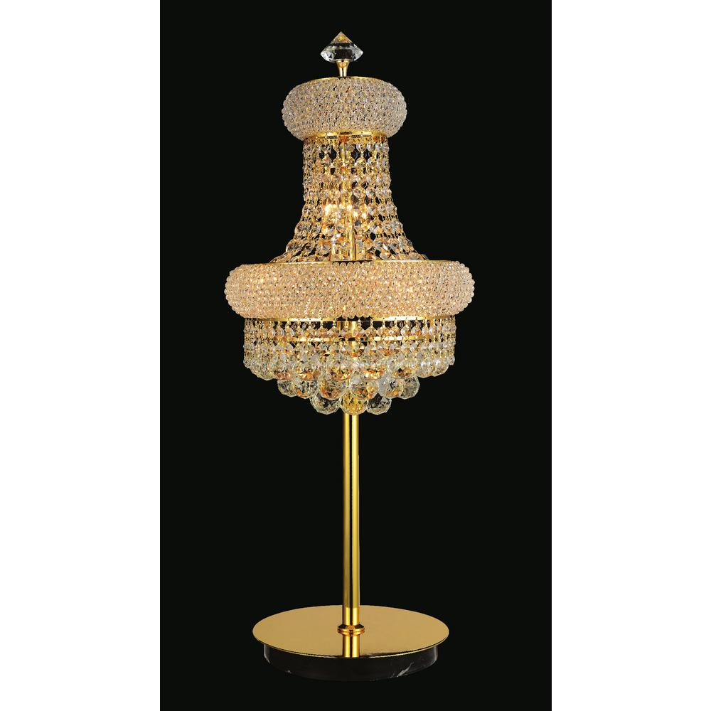 Cwi Lighting Empire 34 In Gold Table Lamp 8001t14g The Home Depot