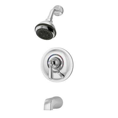 Allura 1-Handle Tub and Shower Faucet Trim Kit in Chrome (Valve Not Included)