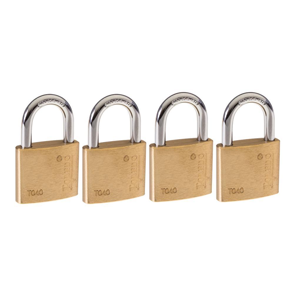 Toledo Fine Locks Brass Keyed Padlock (4-Pack)