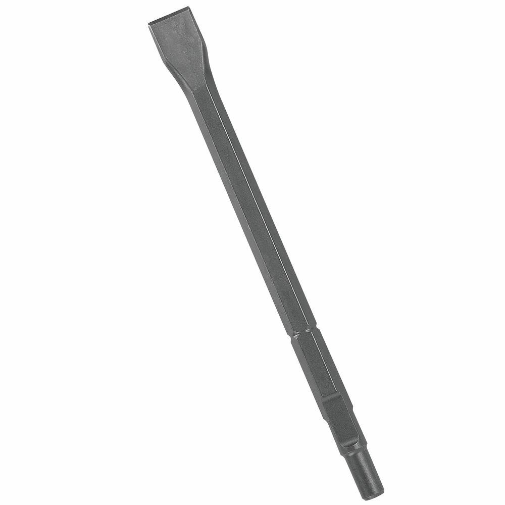 1 in. x 12 in. Hammer Steel Round Hex/Spline Chisel