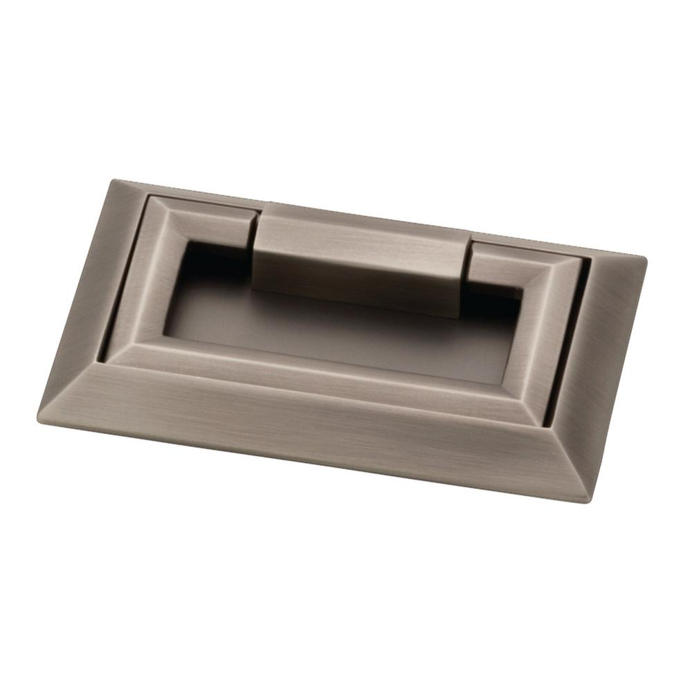Liberty External Campaign 3 in. (76mm) Heirloom Silver Drawer Pull ...