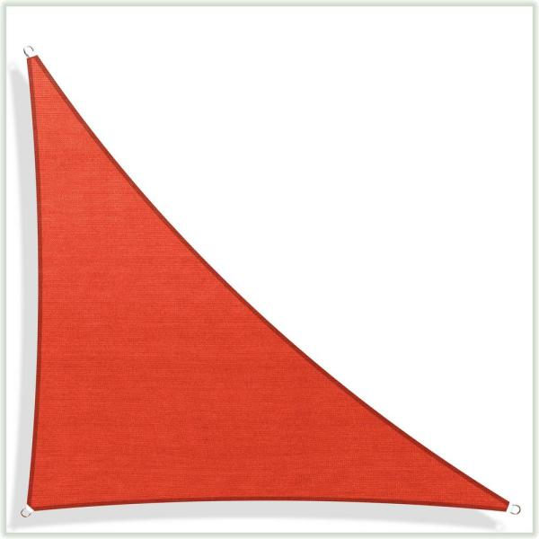 12 ft. x 12 ft. x 17 ft. 190 GSM Red Equilateral Triangle Sun Shade Sail Screen Canopy, Outdoor Patio and Pergola Cover