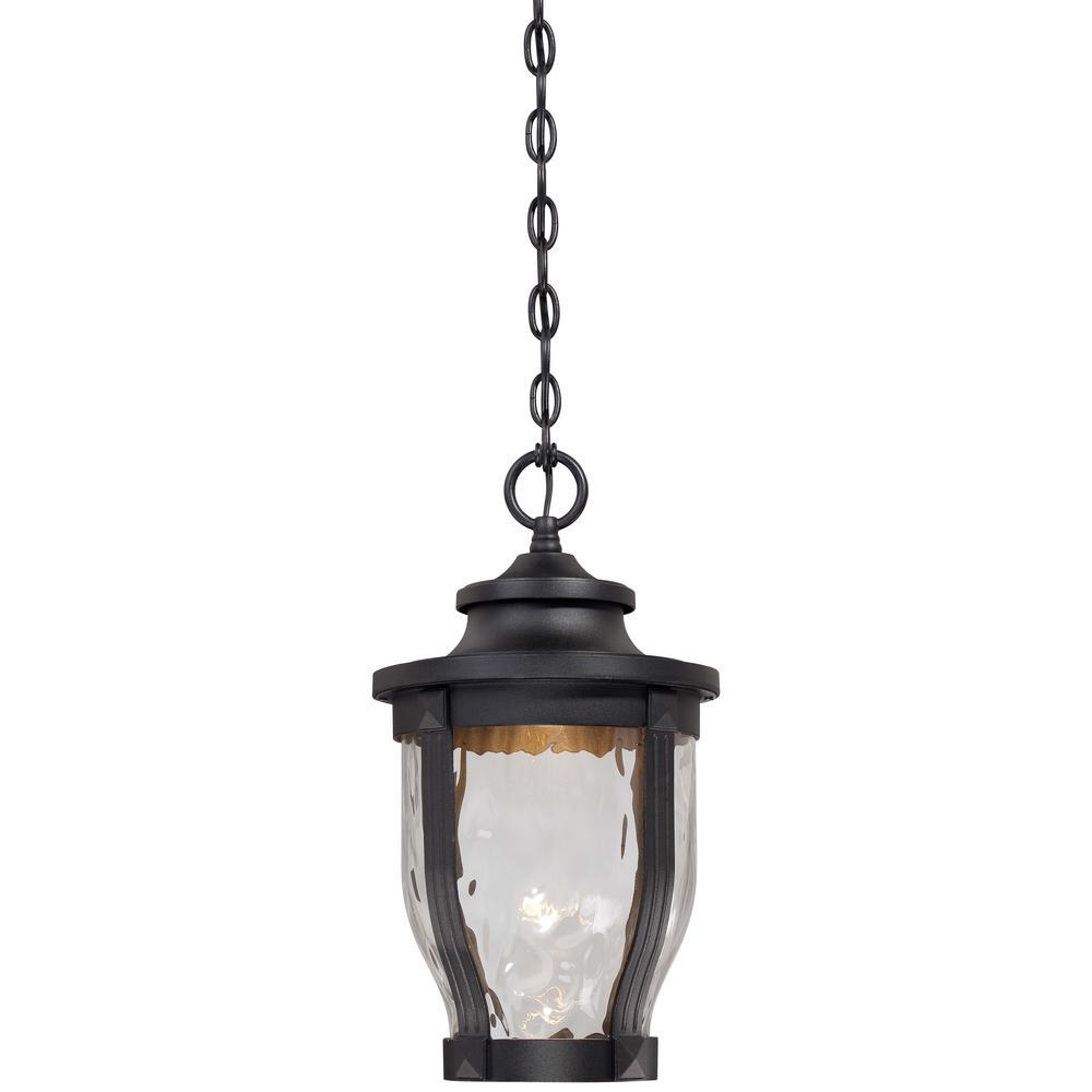 Merrimack 1-Light Black Outdoor Integrated LED Hanging Lantern