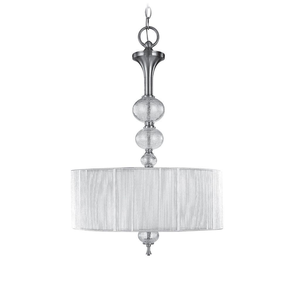3 Light Led Ceiling Pendant Brushed Nickel Contemporary: World Imports Bayonne Collection 3-Light Brushed Nickel