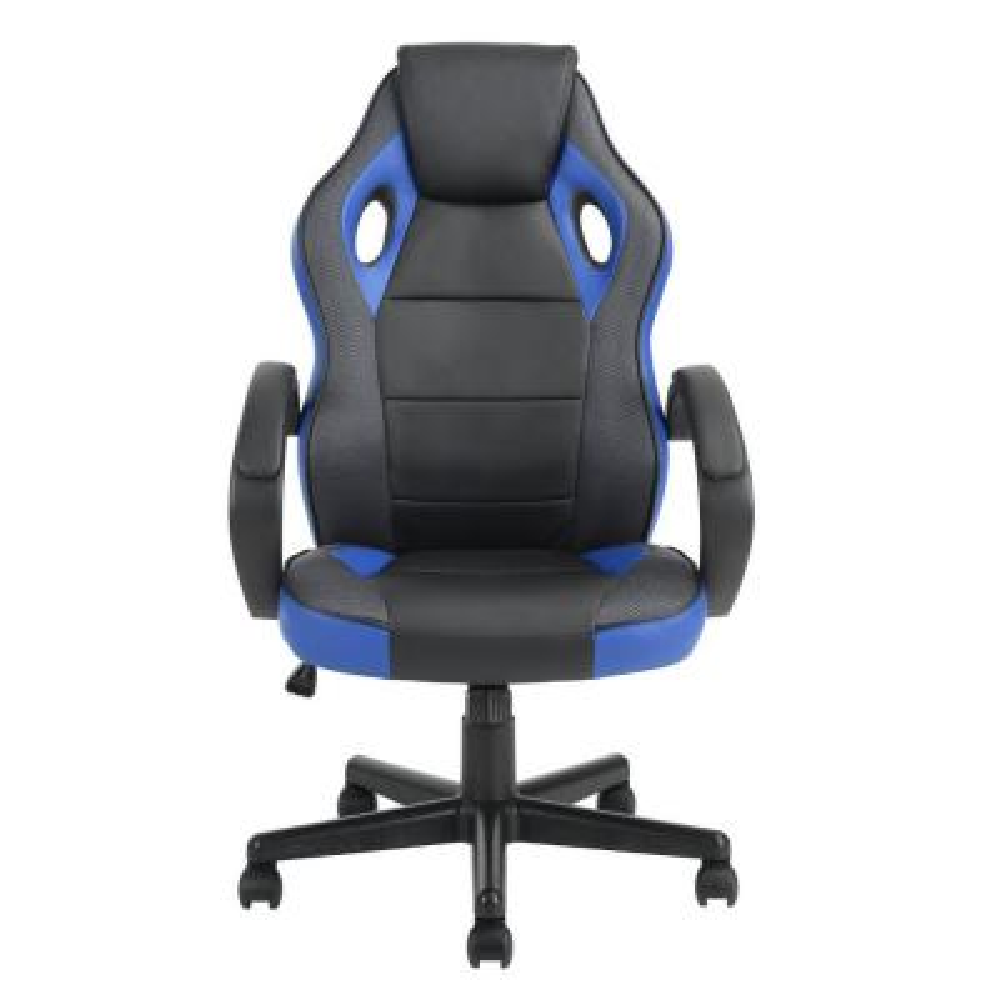 Tunney Blue PU Racing Gaming Chair