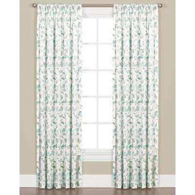 Gentle Wind 95 in. L Polyester Panel in Jade