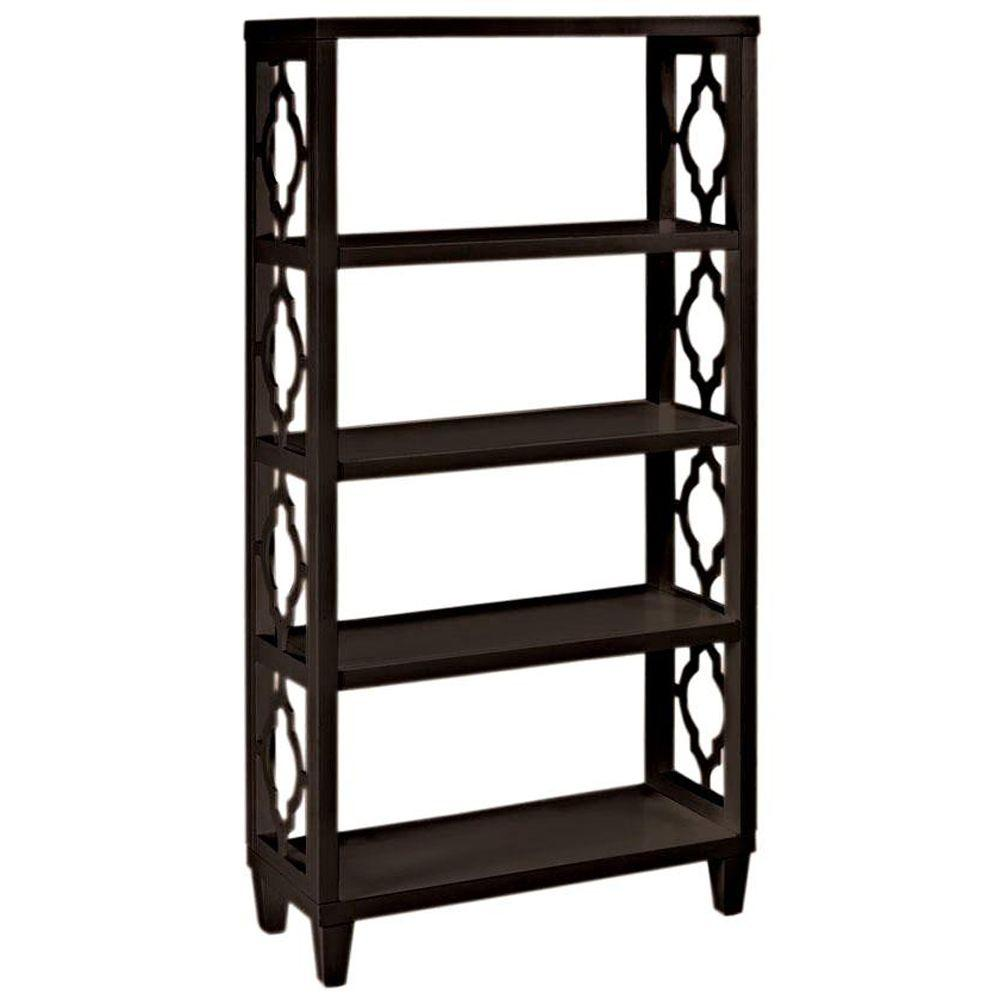 Home Decorators Collection Reflections 56 in. H x 28 in. W Storage Shelf in Espresso