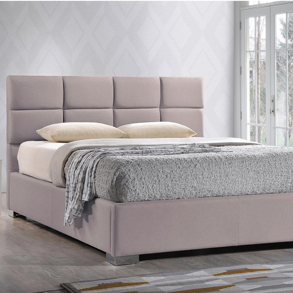 Baxton Studio Sophie Beige King Upholstered Bed 28862 6686